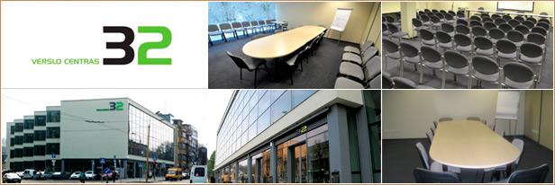 Konferenciju sales renginiams, Kaunas. Conference halls, meeting rooms in Kaunas. Verslo centras 32. Auditorija.lt
