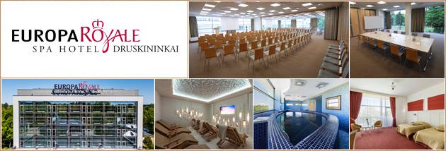 Konferenciju centras, sales mokymams Druskininkuose, Europa Royale Druskininkai. Conference centre, venues in Druskininkai.