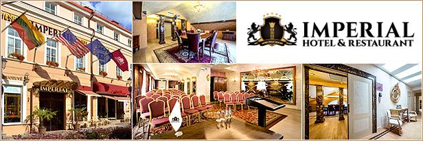 Konferenciju sales nuoma Vilniuje, Imperial Hotel & Restaurant, Vilnius. Conference halls and business venues in Vilnius.