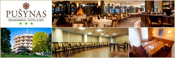 """Konferencijų salės mokymams Druskininkuose, viešbutis """"Pušynas"""""""