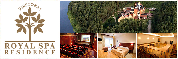 Konferenciju sales Birstonas, Royal Spa. Conference halls, venues in Birstonas, Lithuania.