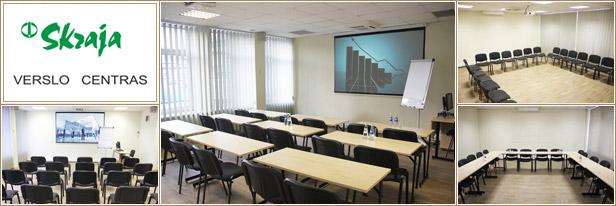 Konferenciju sale Vilniuje, verslo centra Skraja