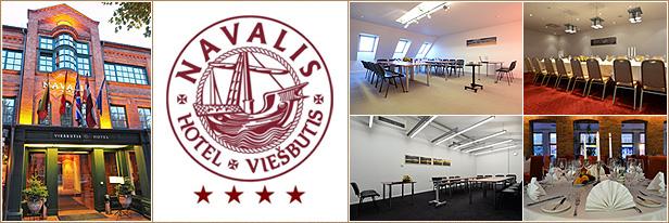 Konferenciju sale, Klaipeda, Navalis hotel. Conference hall in Klaipeda.