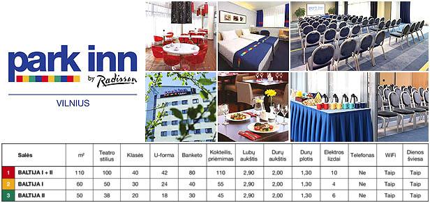 Konferenciju, seminaru, mokymu sales nuoma Vilniuje, Park Inn Vilnius by Radisson
