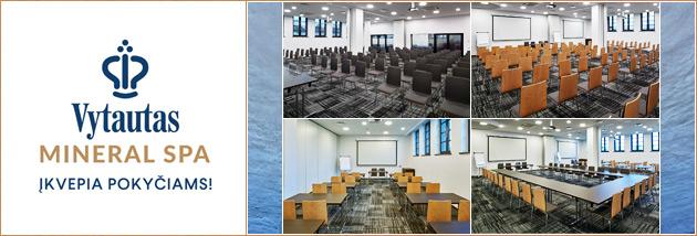 Konferencijų, mokymų centras Birštone - Vytautas Mineral SPA - Conference, training center, venues Birstonas, Lithuania.